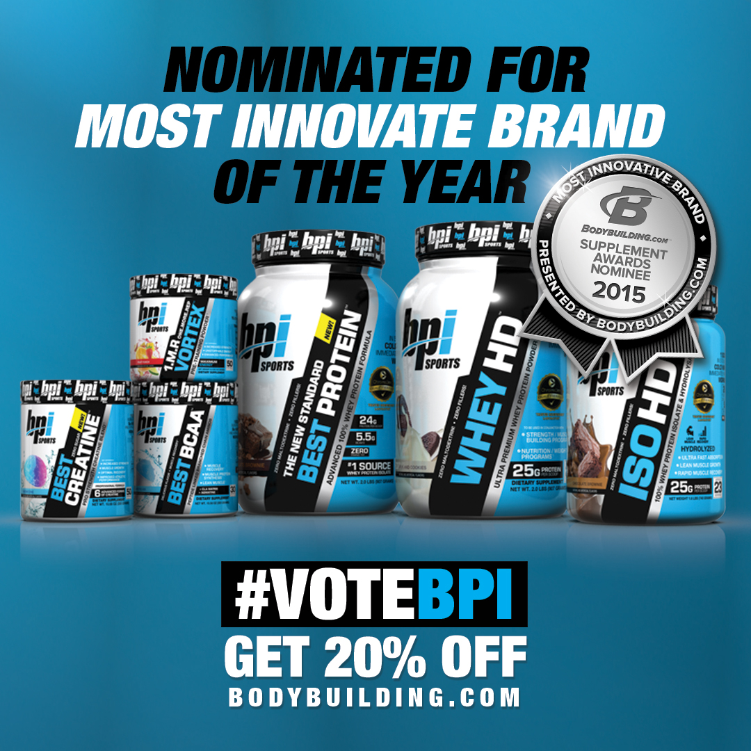bpi sports nominated for 11 different 2015 bodybuilding