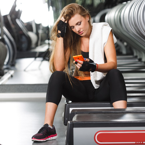 rookie gym mistake: using your cellphone